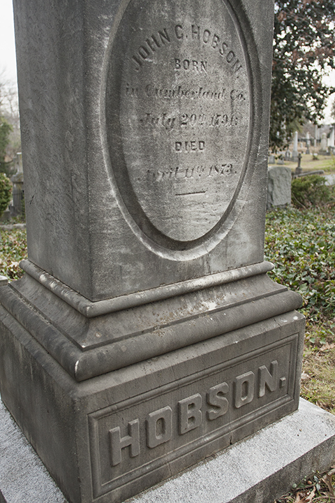 Hobson grave, Hollywood Cemetery, Richmond, VA, December 28, 2012