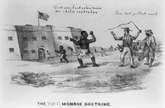 Political cartoon, circa 1861, from Library of Congress