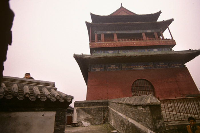 Gulou (Drum Tower), Beijing, October 26, 1996