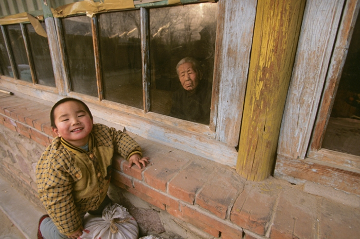 Family of Wei Guiying (not pictured), Sansi Village, Hunan Province, China, December 26, 1996