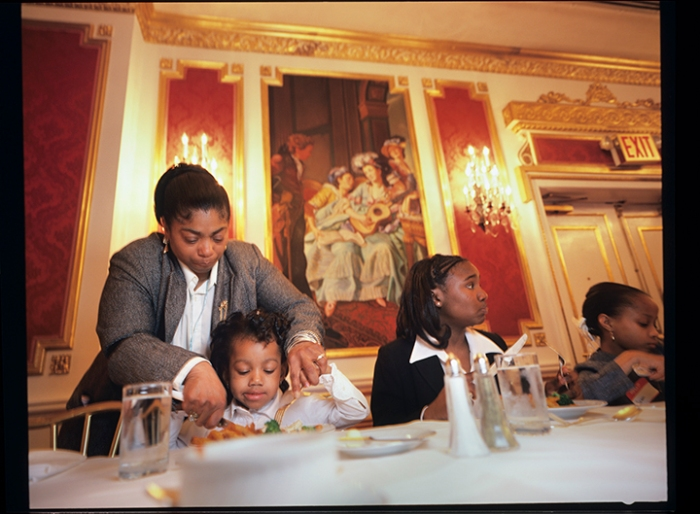 Development and Finishing Institute students learn dining etiquette at the Plaza Hotel, New York City, 2004