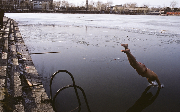 Dongyong (winter swim), Houhai, Beijing, February 20, 1995