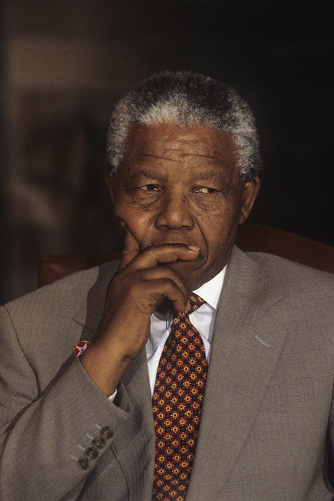 Nelson Mandela during visit to the United States, Washington, DC, July 2, 1993